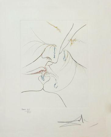 Engraving Dali - LE BAISER (THE KISS)
