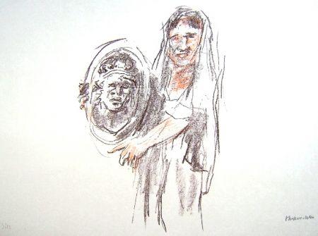 Lithograph Kokoschka - Le Bal Masqué