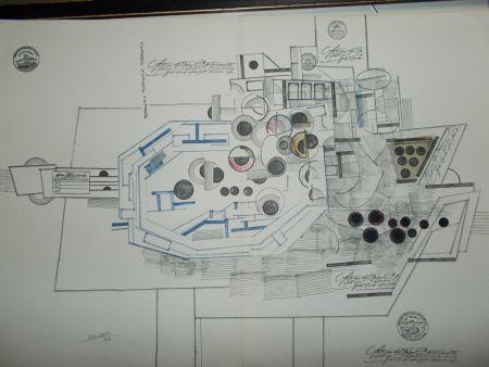 Lithograph Steinberg - Le Bateau