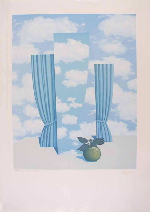 Lithograph Magritte - Le Beau Monde - The Beautiful World
