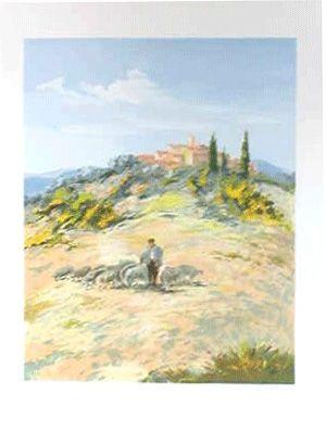 Lithograph Zarou - Le berger