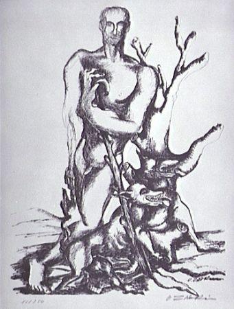 Lithograph Zadkine - Le berger de Gerion