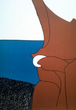 Lithograph Artigas - LE BIJOU BLANC