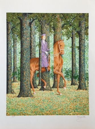 Lithograph Magritte - Le Blanc-Seing