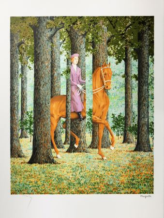 Lithograph Magritte - Le Blanc-Seing (The Blank Signature)
