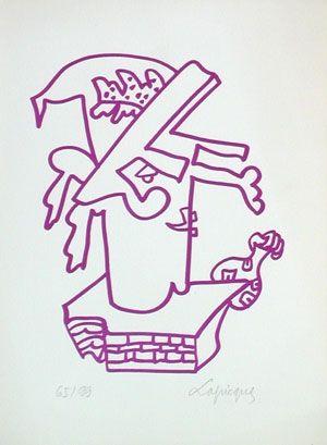 Lithograph Lapicque - Le blanc bec