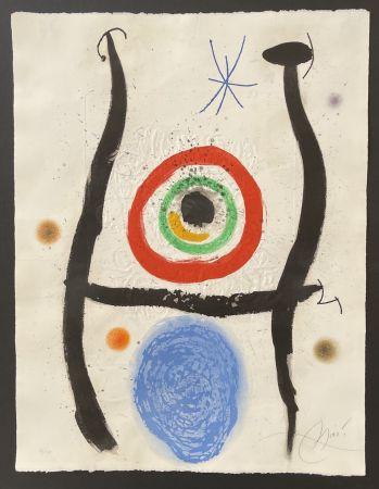 Etching And Aquatint Miró - Le Bleue de la Cible