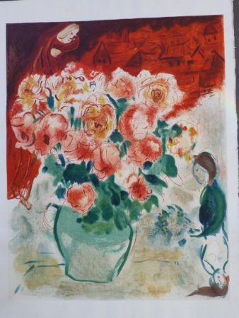 Lithograph Chagall - Le Bouquet