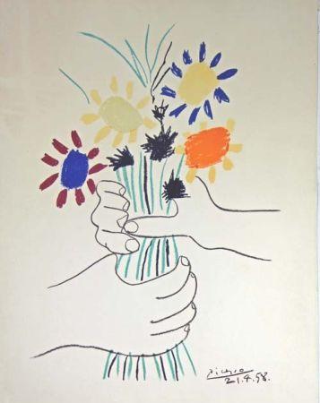 Lithograph Picasso - Le Bouquet