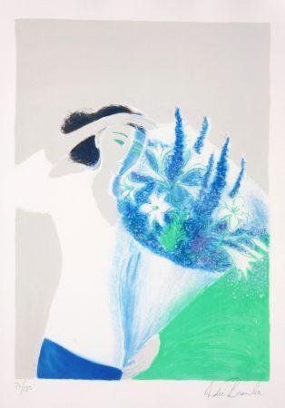 Lithograph Brasilier - Le Bouquet Bleu
