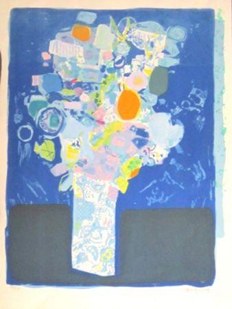 Lithograph Bezombes - Le bouquet de printemps