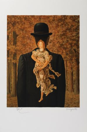 Lithograph Magritte - Le Bouquet tout fait (The Ready-Made Bouquet)