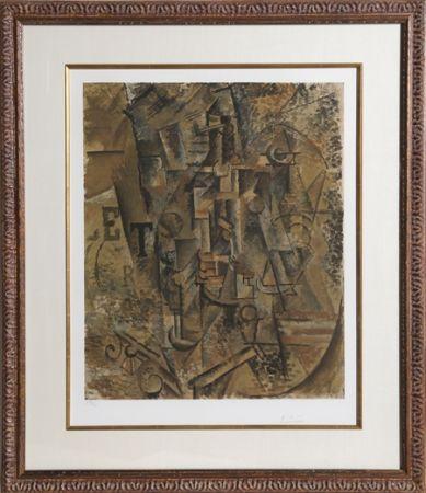 Collograph Picasso - Le Bouteille de Rhum