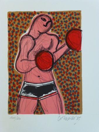Lithograph Corneille - Le boxeur