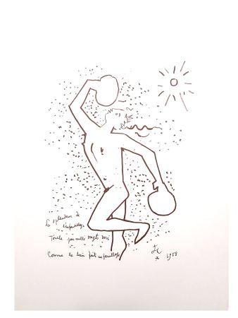 Lithograph Cocteau - Le Boxeur