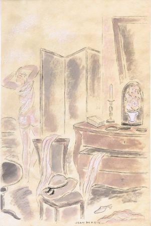 Illustrated Book Berque - Le bruit du silence.  Gouaches originales de Jean Berque.