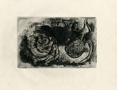 Engraving Fautrier - Le cadavre (Fautrier l'enragé)
