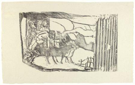 Woodcut Gauguin - Le Calvaire Breton