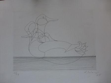 Engraving Lalanne - Le canard