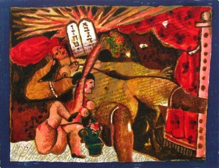 Lithograph Tobiasse - Le cantique des cantiques V