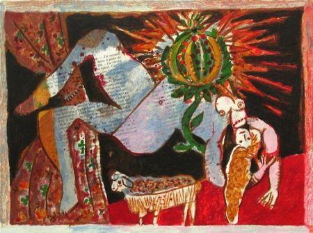 Lithograph Tobiasse - Le cantique des cantiques VII