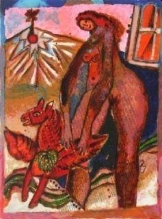 Lithograph Tobiasse - Le cantique des cantiques VIII