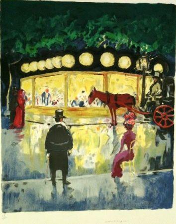 Lithograph Van Dongen - Le Carrousel Au Bois De Boulogne