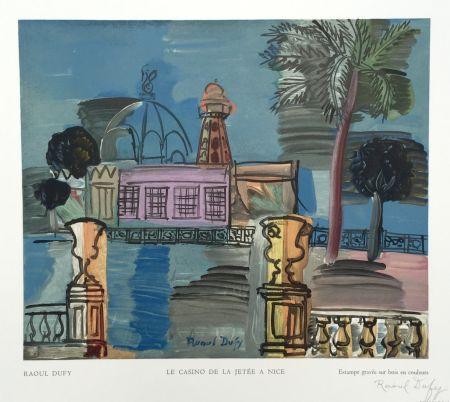 Woodcut Dufy - Le Casino de la Jetée a Nice