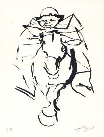 Lithograph Pomar - Le cavalier