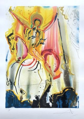 Etching Dali - Le cavalier triomphant