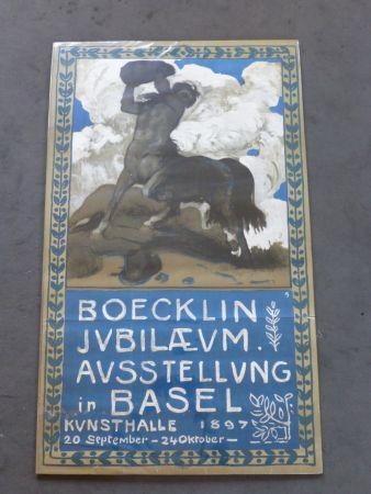 Poster Boecklin - Le centaure ,musée de Bâle