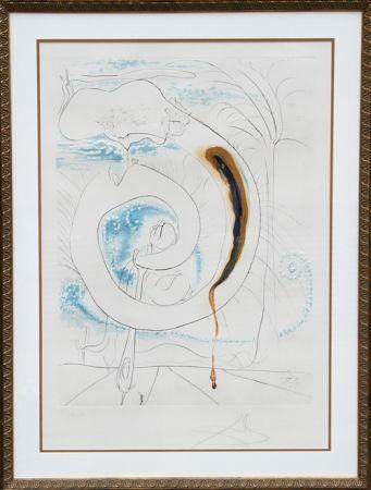 Etching Dali - Le cercle visceral du Cosmos from La Conquete du Cosmos