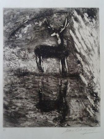 Engraving Chagall - Le Cerf se voyant dans l'Eau