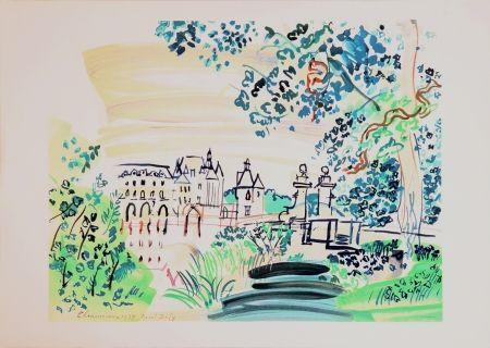 Lithograph Dufy - Le château de Chenonceaux