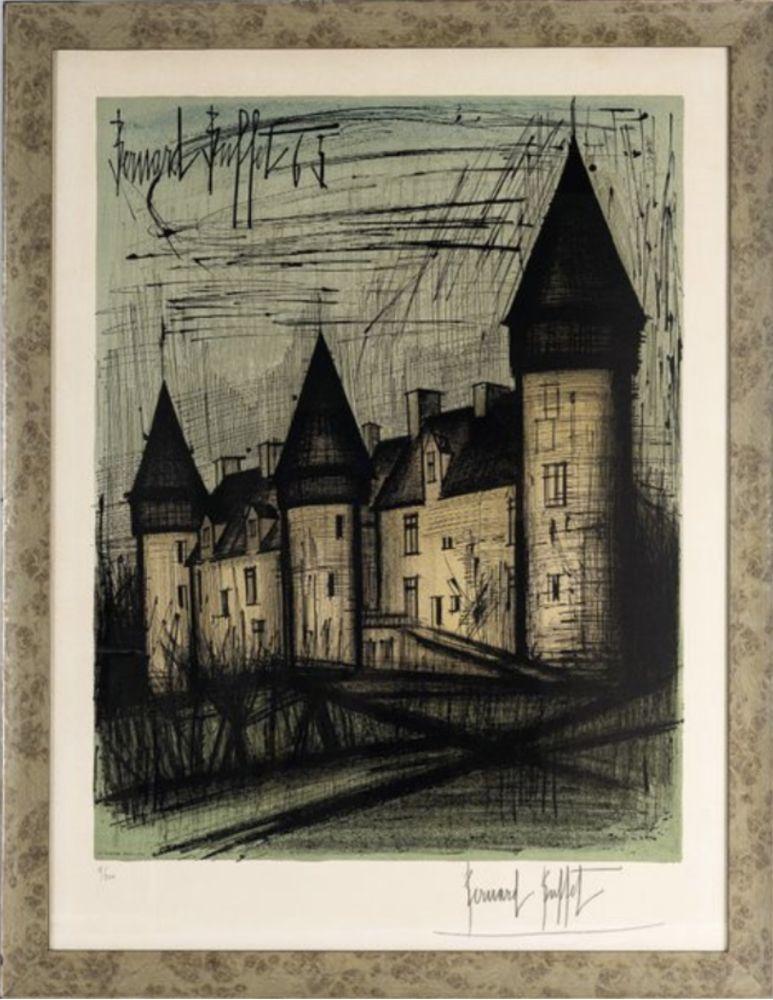 Lithograph Buffet - Le château de Culan