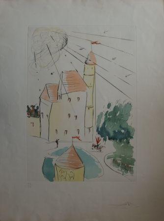 Engraving Dali - Le Château de Vascoeuil