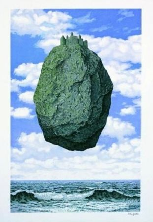 Lithograph Magritte - Le château des Pyrénées,1959