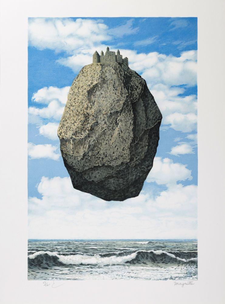 Lithograph Magritte - Le Château des Pyrénées (The Castle of the Pyrenees)