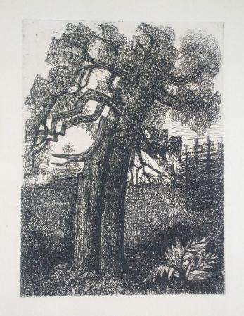 Drypoint Gromaire - Le chêne