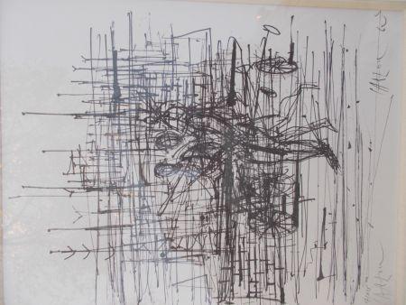 Lithograph Carzou - Le champ de bataille
