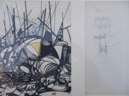 Lithograph Moretti - Le champ des sphères