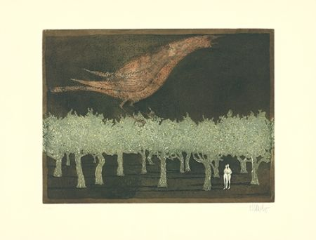 Etching And Aquatint Bo - Le chant du rossignol