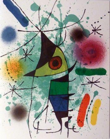Lithograph Miró - Le Chanteur