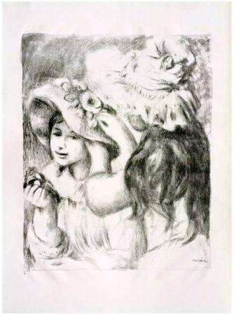 Lithograph Renoir - LE CHAPEAU ÉPINGLÉ (1898). 2e planche.