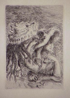 Etching Renoir - Le chapeau épinglé, in Renoir et ses amis