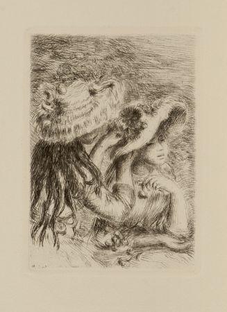 Engraving Renoir - Le chapeau epinglé
