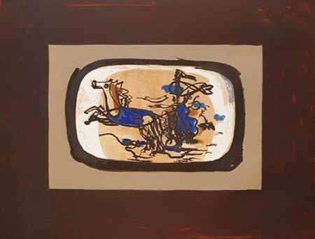 Lithograph Braque - Le Char