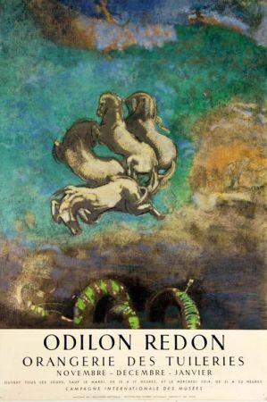 Lithograph Redon - Le Char D'Apollon