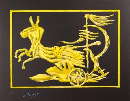 Lithograph Braque - Le Char de Médée