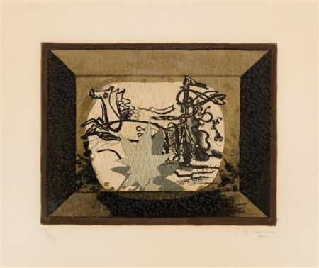 Lithograph Braque - Le Char (The Chariot III)